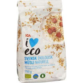ICA I love eco Müsli Naturell 750g KRAV ICA I love eco