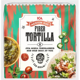 ICA Soft tortillas Fiber Medium 8-p 320g ICA