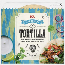 ICA Soft tortillas Large 6-p 370g ICA