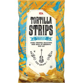 ICA Tortillastrips Sourcreame & cheese 200g ICA