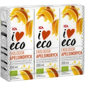 ICA I love eco Stilldrink Apelsin eco